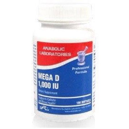 Anabolic Pump - Anabolic Laboratories - Mega D, 1000 IU Vitamin D3 100 softgels