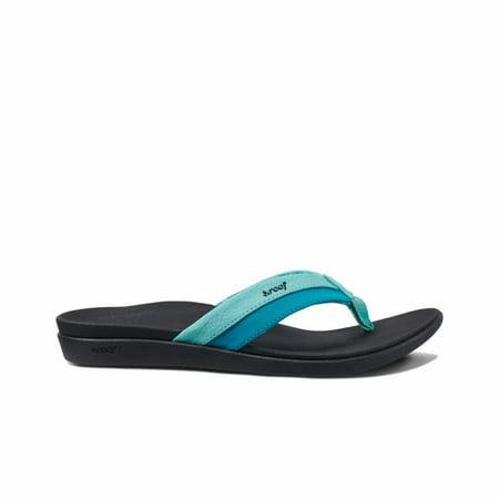 Womens Reef Ortho-Bounce Coast Aqua Blue Comfort Sports Sandals Size