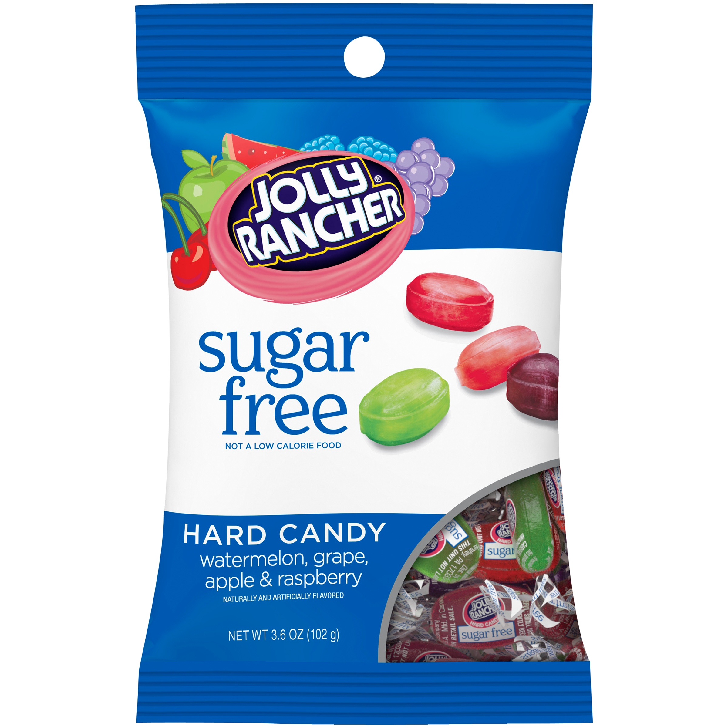 (4 Pack) Jolly Rancher, Sugar Free Hard Candy Assortment, 3.6 Oz