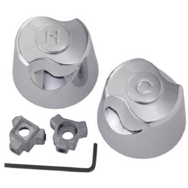 SH3477 Plumb Shop Medium Canopy Faucet Handles With Adaptor Clamshel - image 1 de 1