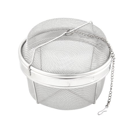 Unique Bargains Wire Mesh Twist Locking Sphere Ball Spice Herb Tea Strainer Filter 13cm Dia