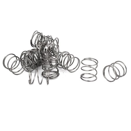 0.8mmx14mmx15mm 304 Stainless Steel Compression Springs Silver Tone 20pcs - image 2 of 2