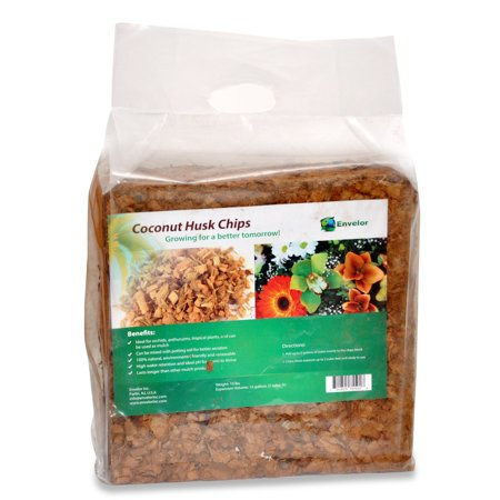 Envelor Home And Garden 10 Lbs Natural Coco Coir Husk Chips Coconut Fiber Mulch