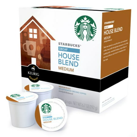 Starbucks Single Serve Coffee for Keurig, House Blend Decaf, 16 Ct - Walmart.com