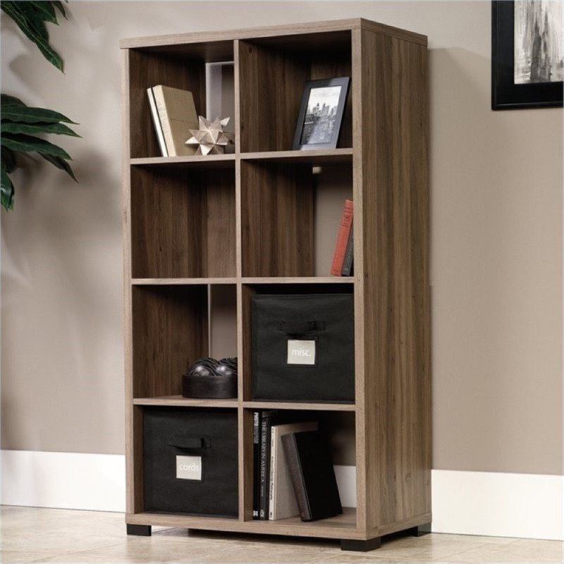 Bowery Hill 10 Cubby Bookcase in Salt Oak