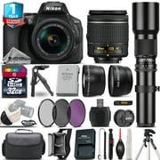 Nikon D5600 DSLR Camera + 18-55mm VR + 500mm Lens + Filter Kit + 1yr Warranty