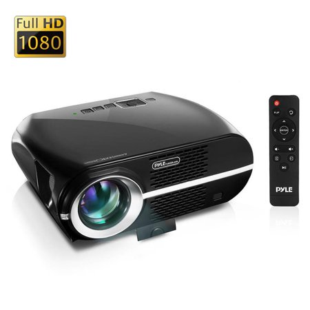 PYLE PRJLE67 - Digital HD Home Theater Projector with 1080p Support, HDMI/USB/PC Interface, Up to 120'' -inch Display (Mac & PC (Digital Protector)
