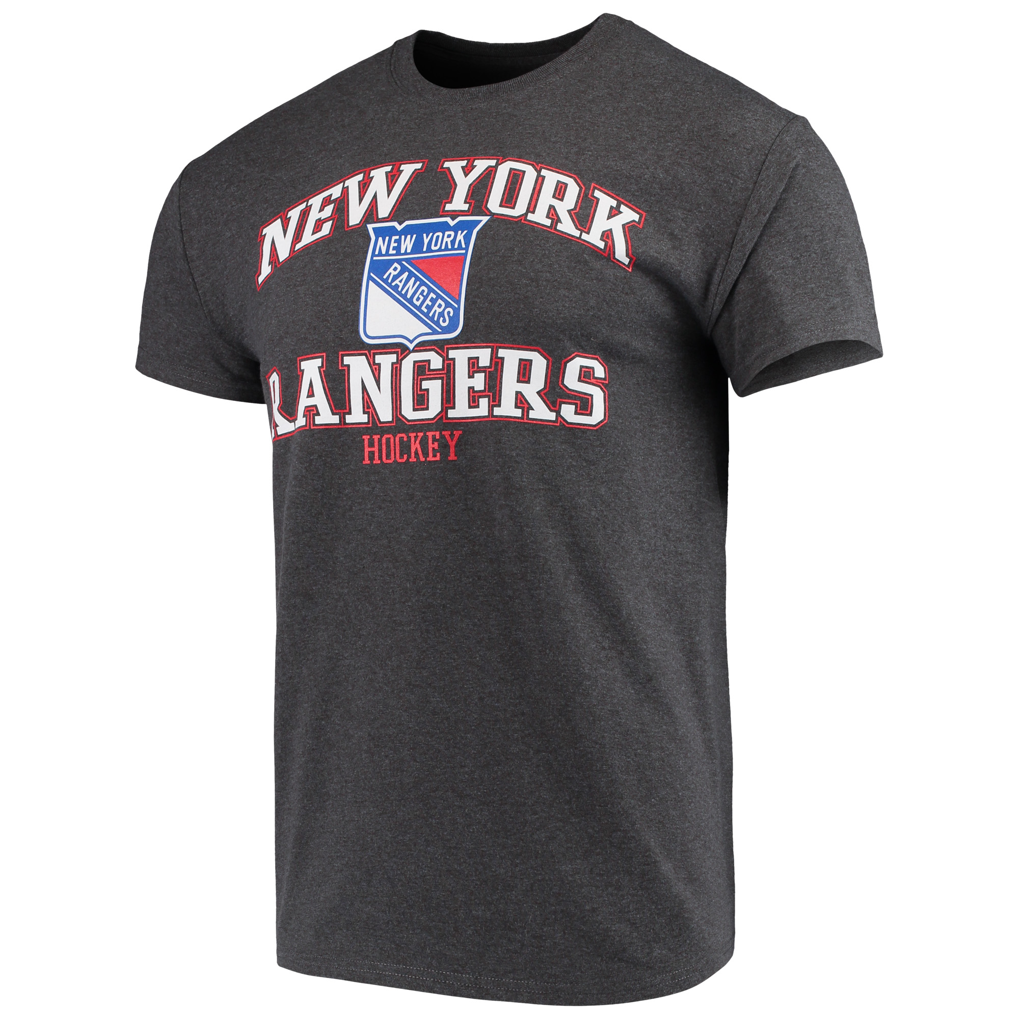 Men's Majestic Heathered Charcoal New York Rangers Greatness Short Sleeve T-Shirt
