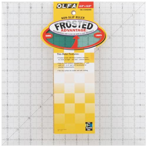 "Olfa Frosted Advantage Non-Slip Ruler ""The Standard""-12-1/2""X12-1/2"""