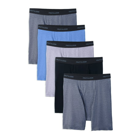 Fruit of the Loom Men's Beyondsoft Assorted Boxer Briefs, 5 Pack