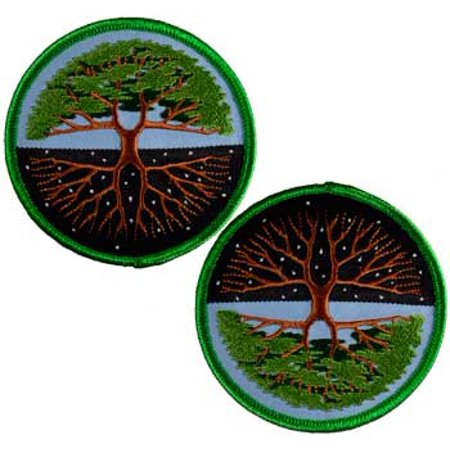 Sewing Decorative Patches Tree of Life Day Night Versatile Earths Bounty Sew On Patch