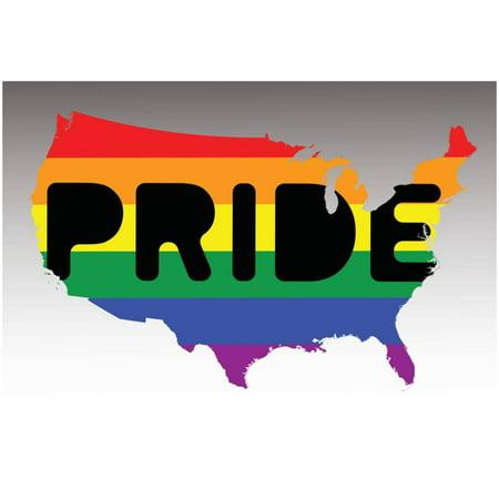 Pride Poster (USA Pride - Rainbow Flag Poster - 19x19)