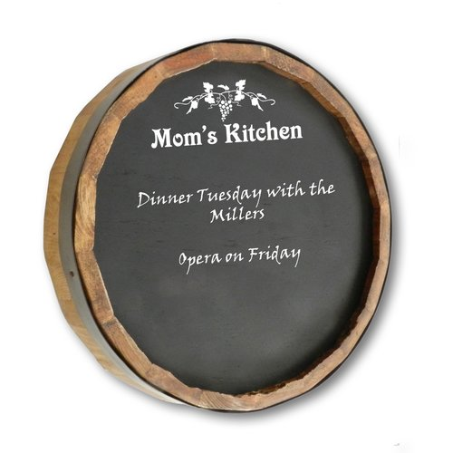 Winston Porter Mom's Kitchen Quarter Wall Mounted Chalkboard