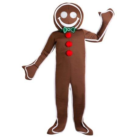 Men's Iced Gingerbread Man Costume](Ginger Bread Costume)