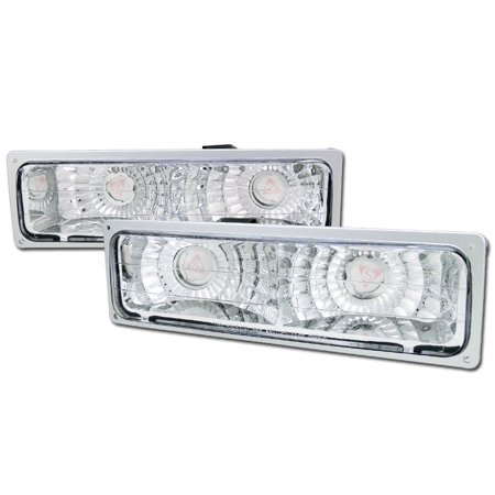 Prelude Bumper Signal Lights (RL Concepts CHROME CLEAR SIGNAL BUMPER LIGHTS LAMPS YD 88-00 CHEVY GMC C10 CK C/K)