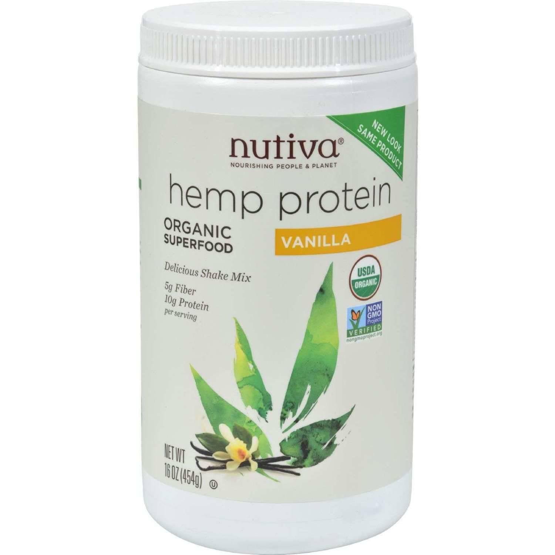 Nutiva Nurture Vitality Organic Vanilla Hemp Protein Shake Mix, 16 oz