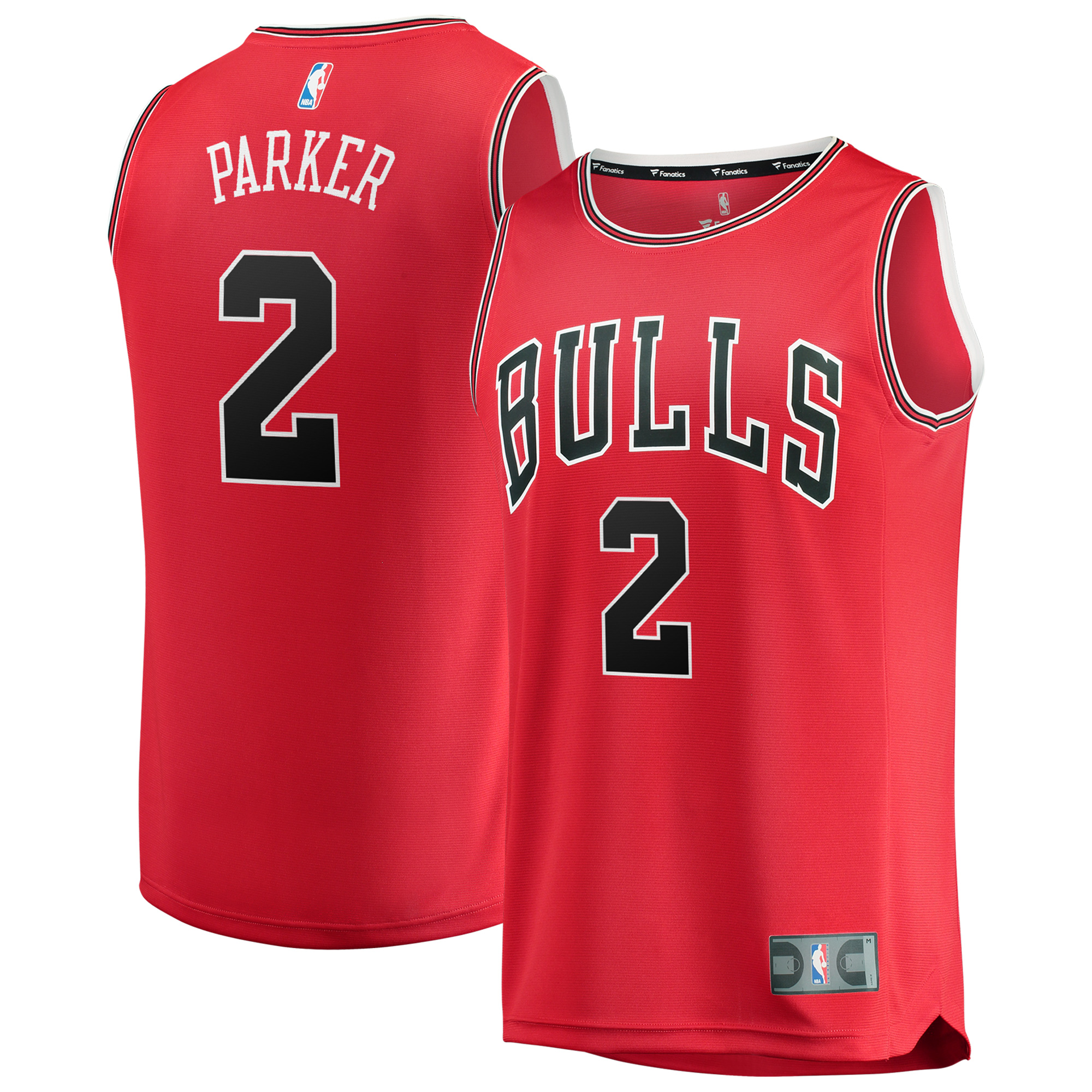 Jabari Parker Chicago Bulls Fanatics Branded Fast Break Replica Jersey - Icon Edition - Red