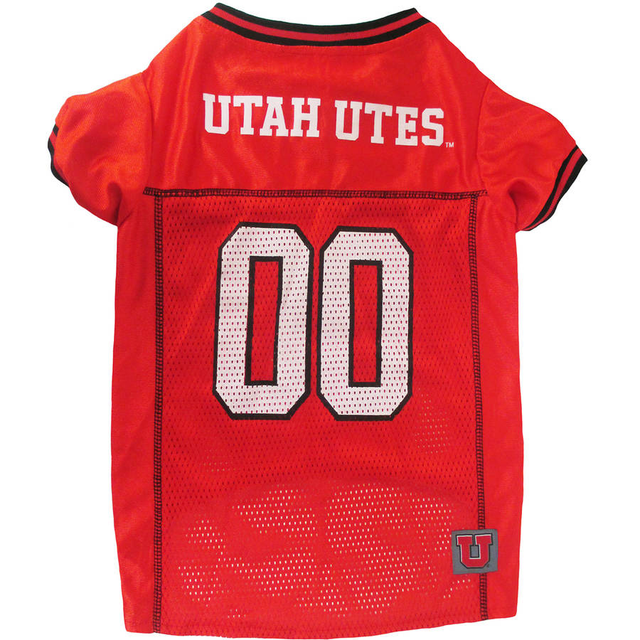 Pets First College Utah Utes Collegiate Dog Jersey, Available in Various Sizes