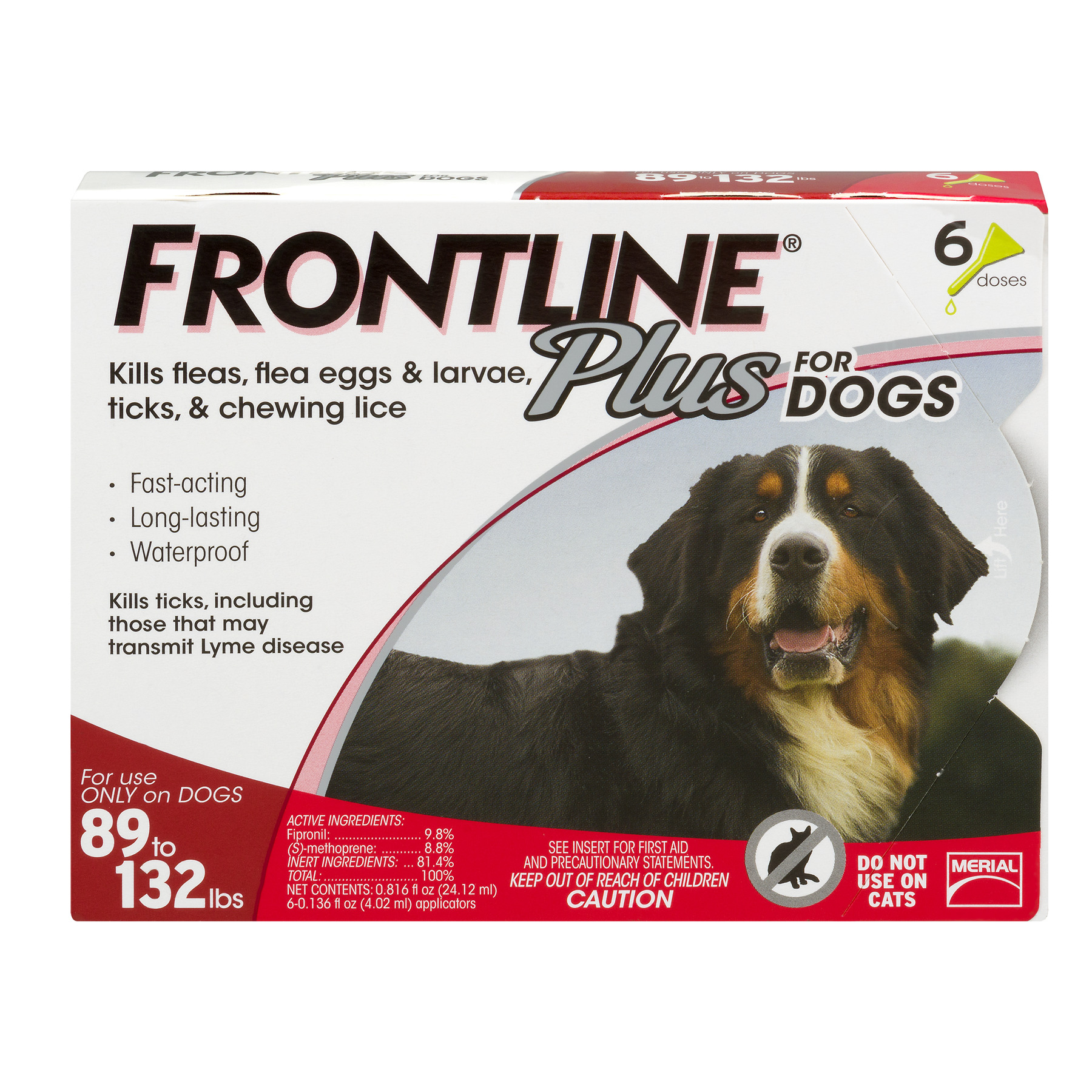 Frontline Plus Flea and Tick Treatment for Extra-Large Dogs, 6 Monthly Doses