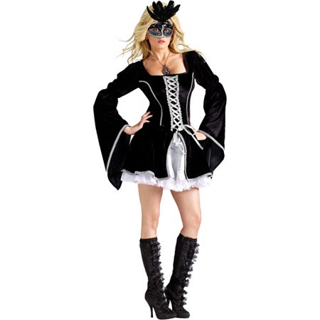 Midnight Masquerade Adult Halloween Costume](Seven Til Midnight Halloween Costumes)