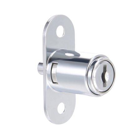 23mmx19mm Cylinder Zinc Alloy Chrome Finish Plunger Lock, Keyed Alike