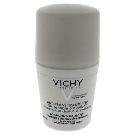 Vichy Laboratories 48 Hour Soothing Anti-Perspirant Deodorant for Women Deodorant Roll-On, 1.69 Oz