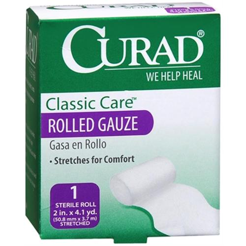 Curad Classic Care Rolled Gauze 2 Inches X 4.1 Yards 1 Each (Pack of 4)