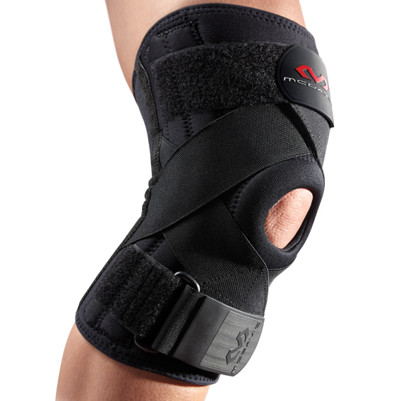 McDavid Level 2 Knee Support w/Stays & Cross Straps - Black