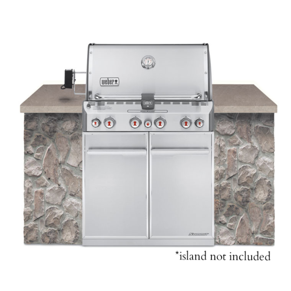 Weber Summit S-460 Stainless Built-In Natural Gas Grill by
