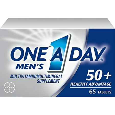 3 Pack One A Day Hombres 50+ Advantage multivitaminas 65 Cápsulas Cada uno