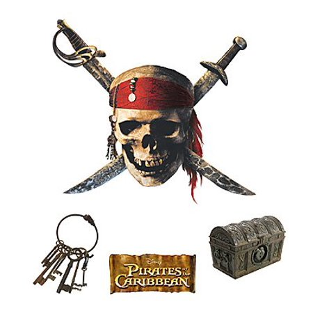 Janlynn Pirates Of The Caribbean Iron On Transfer (1 Package) - Skull and Swords - Pirate Skull And Swords
