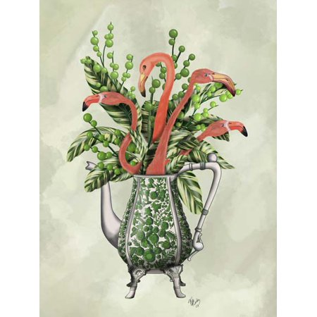 Vase Of Flamingos Poster Print By Fab Funky 13 X 19 Walmart