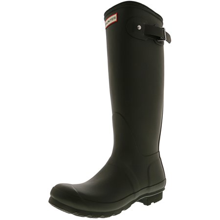 Hunter Women's Original Tall Dark Olive Knee-High Rubber Rain Boot - - Black Pirate Boots