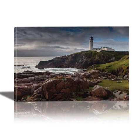 Eurographics Canvas Wall Art: Lighthouse Painting Artwork for Home Decor Framed 24x36 inches