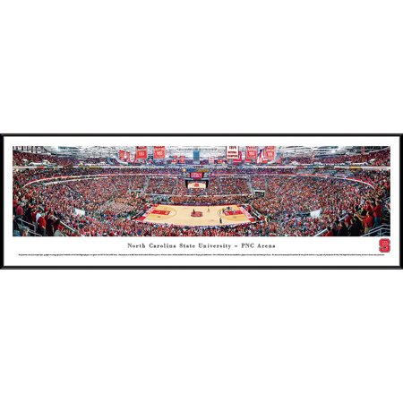 North Carolina College Basketball - North Carolina State Wolfpack Basketball at PNC Arena - Blakeway Panoramas NCAA College Print with Standard Frame