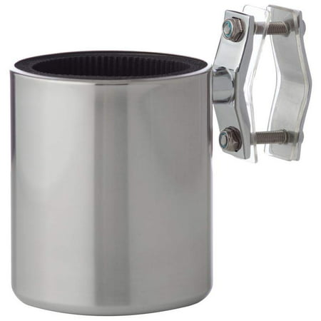 Diamond Plate™ Universal Stainless Steel Motorcycle Cup Holder (Cup Holders For Motorcycles)