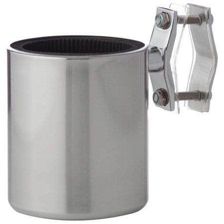 Diamond Plate™ Universal Stainless Steel Motorcycle Cup Holder (Motorcycle Cup Holder)