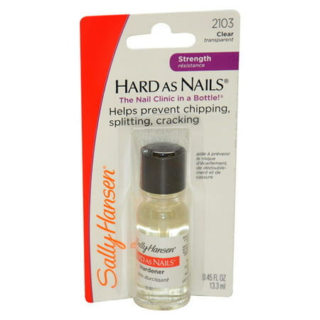 Sally Hansen Hard as Nails Regular #2103 Clear Transparent, 0.45 Oz