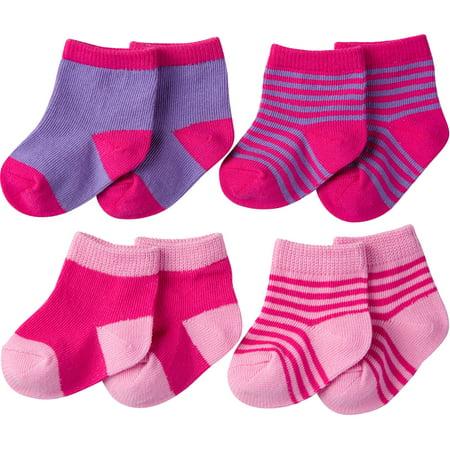 Newborn Baby Girl Ankle sock, - Sock Monkey Girl