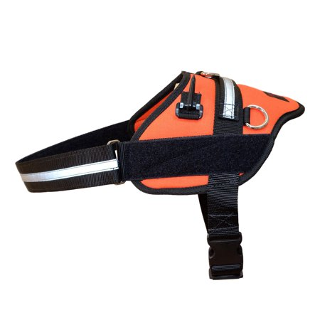orange professional service dog harness redline k9. Black Bedroom Furniture Sets. Home Design Ideas