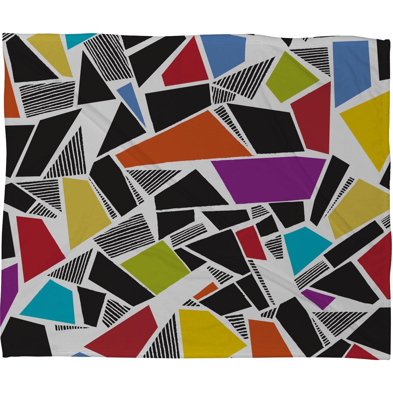 60-Inch by 50-Inch Deny Designs Valentina Ramos Ethnic Stripes Fleece Throw Blanket