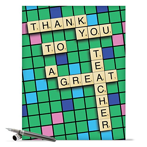 "J9123 Jumbo Hilarious Thank You Greeting Card: 'Thank You to a Great Teacher Thank You' with Envelope (Extra Large Size: 8.5"" x 11"")"