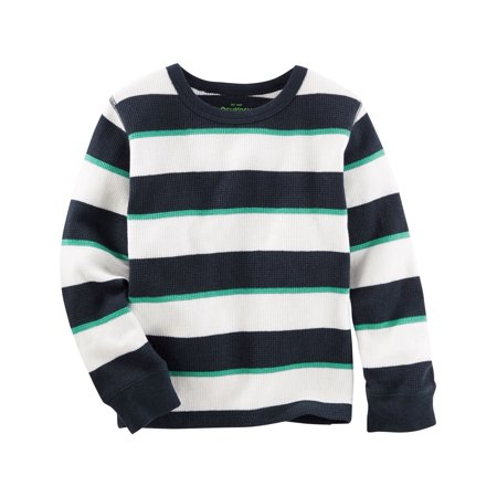 OshKosh B'gosh Baby Boys' Striped Thermal, 6 Months](Chucky Shirt Stripes)
