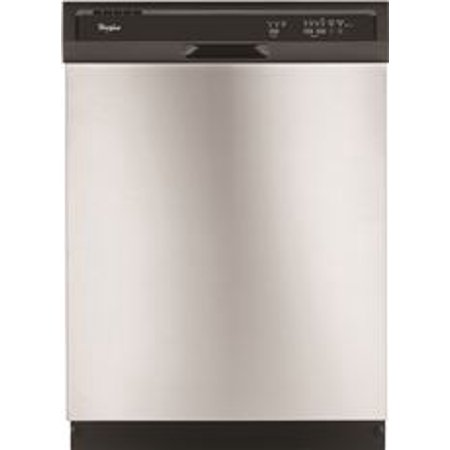 WHIRLPOOL BUILT-IN 24 IN. DISHWASHER WITH ACCUSENSE SOIL SENSOR, UNIVERSAL SILVER, 3 CYCLES / 4 OPTI