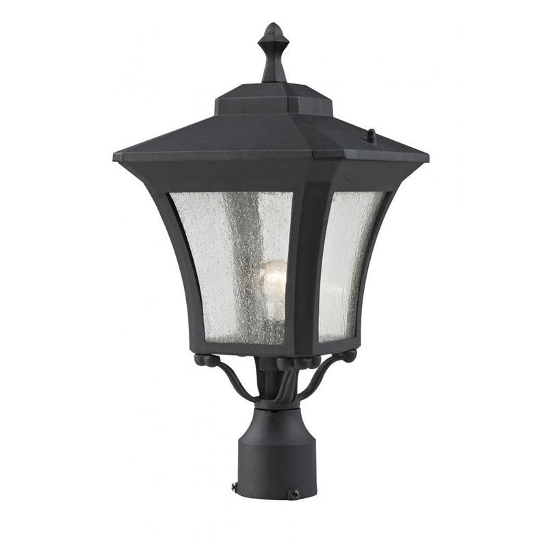 Z-Lite Waterdown Outdoor Post Light in Sand Black