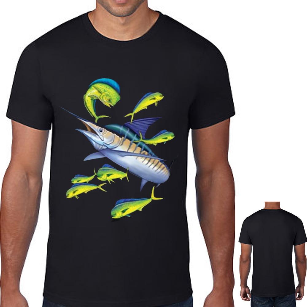 Men/'s Mahi Mahi Flying Fish T Shirt Top Fisherman Fishing Ocean Tees Gift S-3X