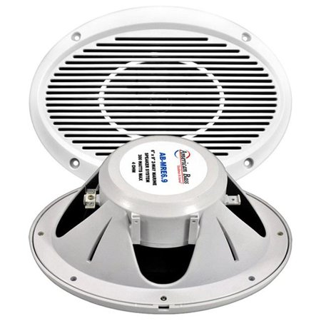 American Bass Abmre69 6 X 9 In  300 Watt Max 2 Way Marine Speaker
