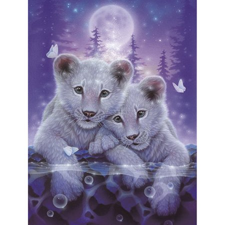 8 * 10 inches/20 * 25cm DIY 5D Diamond Painting Kit Tiger Resin Rhinestone Embroidery Cross Stitch Craft Home Wall Decor