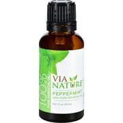 Via Nature Essential Oil - 100 Percent Pure - Peppermint - Single - 1 fl oz