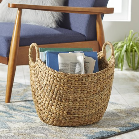 Better Homes & Gardens Large Natural Water Hyacinth Boat Basket, Set of 2